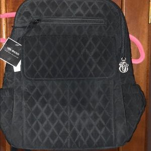 Vera Bradley quilted Backpack. Black. NWT